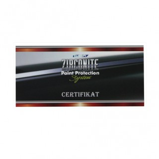 Zirconite certifikat
